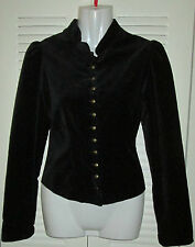 RALPH LAUREN VELOUR Velvet EQUESTRIAN Multi Buttons Fitted Ruched Tail Jacket