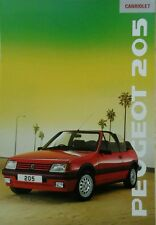 Peugeot 205 Cabriolet Sales Brochure - August 1988