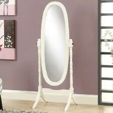 Modern Floor Swing Mirror Home Bedroom Store Wood Frame & Stand Full Body Length