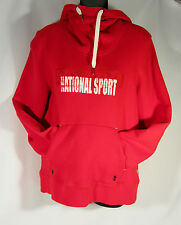 Hudson Bay co. HBC Canada OLYMPIC  Red Cotton Blend Hoodie Women's L Pullover
