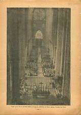 Cardinal Suhard Cathédrale de Reims Champagne Gothique France 1937 ILLUSTRATION