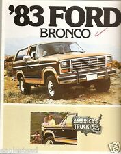 Truck Brochure - Ford - Bronco - 1983 (TB351)
