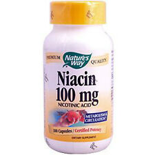 VITAMIN B-3 NIACIN, 100mg x 100Caps, Natures Way, 24Hr Dispatch