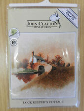 Heritage Crafts JohnClayton Miniatures Lock Keepers Cottage Counted Cross Stitch