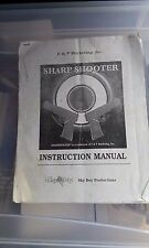 sharp shooter arcade manual