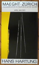 Hartung Hans Affiche quadri 1973 art abstrait abstraction Lyrique Zurich Paris