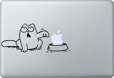 Apple MacBook Air Pro + SIMON'S CAT + Aufkleber Sticker Decal Skin + Katze
