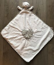 MOTHERCARE MADE WITH LOVE UNISEX BABY COMFORTER TEDDY BLANKET SOFT TOY BLANKIE