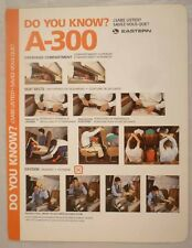 Eastern airline Airbus A 300 SAFETY CARD instruction brochure ee e122