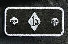 ONE PERCENTER 1%ER  SKULLS ANARCHY OUTLAW 4 INCH IRON ON MC BIKER PATCH