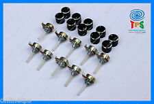 10 Pc 100Kohm Rotary Potentiometer Variable Resistance Linear Free Knob Caps