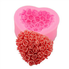 Rose Heart Flower Silicone Mould Cake Soap Mold For Candy Chocolate Cookies