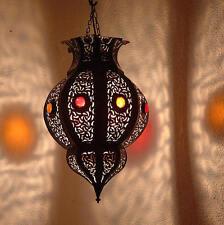 Lustre plafonnier marocain fer forgé  lampe applique lanterne oriental