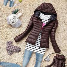 New Women Thin Slim Down Coat Warm Jacket Winter Overcoat Parka Candy Color