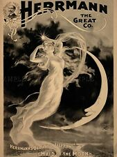 ADVERTISING CIRCUS HERRMAN EXHIBITION MAID MOON ILLUSION ART POSTER PRINT LV614