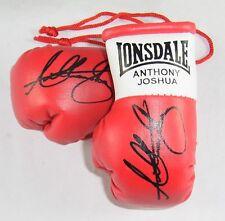 Autografiado Mini Guantes De Boxeo Anthony Joshua