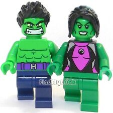 BM200 Lego The Incredible Hulk & She Hulk Custom Minifigures NEW