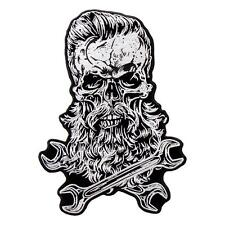 Beard Skull WRENCH MECHANIC 5 INCH MC BIKER PATCH