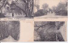 Lot 4 cartes postales anciennes COGNAC parc FRANCOIS Ier