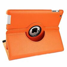 360 Rotating Leather Smart Cover Hard Back Case Sleep/Wake For Apple iPad