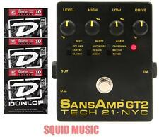 Tech 21 NYC Sansamp GT2 Preamp Stomp Box Record Direct Analog ( 3 STRING SETS)