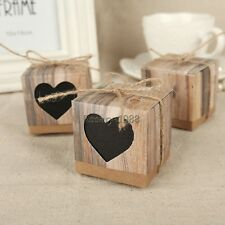 24* Blank Love Rustic Candy Boxes Burlap Jute Shabby Chic Vintage Wedding Favor