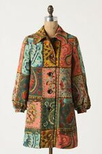 NWT Anthropologie Paisley Checked Jacket Coat Size 4 by Elevenses