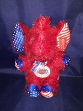 """New Softouch Toys Republican American Red Elephant 13"""" USA Plush Stuffed Animal"""