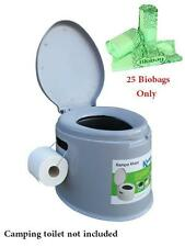25 Portable Camping Toilet Compostable Biodegradable Bags Only for Outwell Kampa