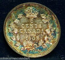 CANADA - FIVE Cents - 1903 -  King Edward -Beautiful Toning