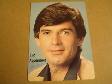 SIGNED PHOTO STORY - LUC APPERMONT