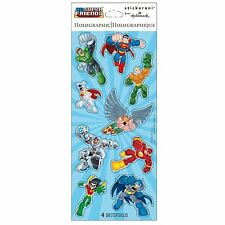 DC Super Friends Sticker Sheets - 4 Sheets of Stickers - 36 Stickers Total