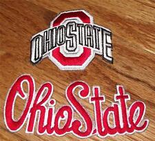 2x NEW Ohio State University OSU Buckeyes Patch Patches Logo & Script Cool *Q1