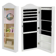 Jewelry Cabinet Armoire Mirrored Jewelry Armoire Wall Mounted Storage Organizer