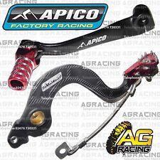 Apico Black Red Rear Brake & Gear Pedal Lever For Honda CRF 150RB 2011 Motocross
