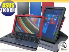 ASUS TransformerBook T100 Chi Rotating & detachable keyboard leather case_BLUE