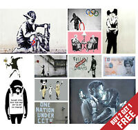 A3 BEST OF BANKSY POSTER OPTIONS Print Home Wall Decor Graffiti Street Artist