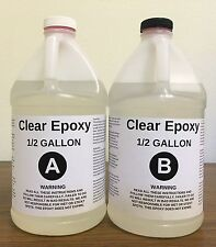 CLEAR EPOXY RESIN - EASY 1:1 MIXING - SUPER HIGH GLOSS - GALLON KIT