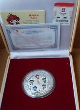 Official 2008 Beijing Olympic Silver Plated Medallion Sports Commemorative Coin