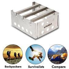 Outdoor Cooking Picnic Camping Stainless Wood Stove Alcohol Stove Burner N4Q2