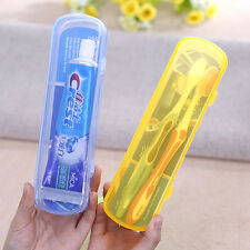 Portable Travel Camping Tooth Brush Box Toothbrush Holder Tube Plastic Case