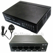 5 Port Network RJ45 CAT6 6E Fast Gigabit Ethernet Switch 10/100/1000Mbps 1GB LAN
