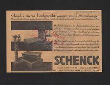 Darmstadt, Pubblicità 1929, Carl Schenck Eisengiesserei Maschinen-Fabrik GmbH Bilancia