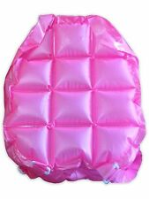 INFLATABLE BACK PACK BUBBLE 90'S ZIP UP ADJUSTABLE STRAPS PVC PINK