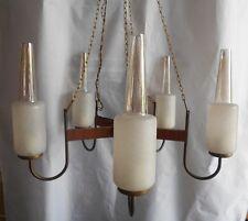 Lampadario chandelier 5  fiamme silicate vetro decorato  cucina  sala  vintage