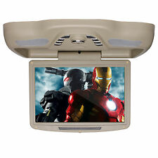"Car 12.1"" HD Flip Down Ceiling Roof Mount Monitor Screen DVD Player TV FM USB/SD"