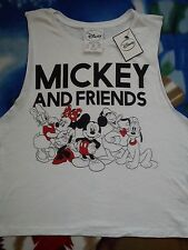 NICE NEW MINNIE MICKEY MOUSE  Ladies womens T-SHIRT CROP TOP TEE SIZE 12