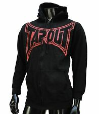 TapOut Ufc Team Big Logo Black Zip Up Fleece Mens Hoodie size Medium
