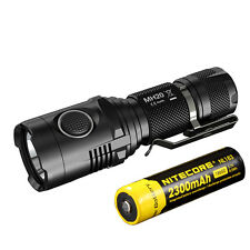 NiteCore MH20 Cree XM-L2 LED 1000lms USB Rechargeable Flashlight Torch+Battery