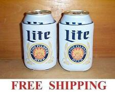 MILLER LITE 2 THROWBACK BEER CAN COOLERS KOOZIE COOLIE HUGGIE COOZIE NEW